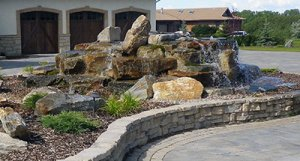retaining wall, waterfall, residential services