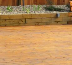 Cedar deck, residential landscaping services
