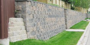 Large commercial retaining wall