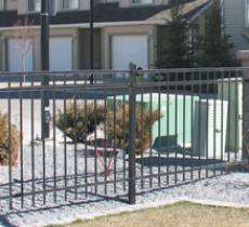 Metal Fencing, iron fence, residential landscaping