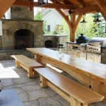 Outdoor Stone & Cedar Kitchen