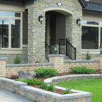 Stone Retaining Wall and Planters