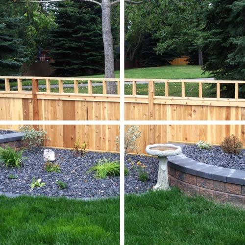 Wooden fences, commercial landscaping services
